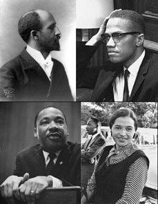 W.E.B. Dubios, Macolm X, Martin Luther King, Jr., Rosa Parks