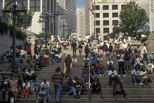 People on the Steps